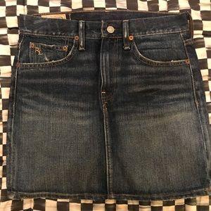 Polo Ralph Lauren blue jean Mini-skirt; size 2